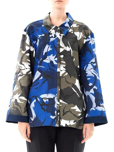 Joe Richards Camo-print cotton shirt