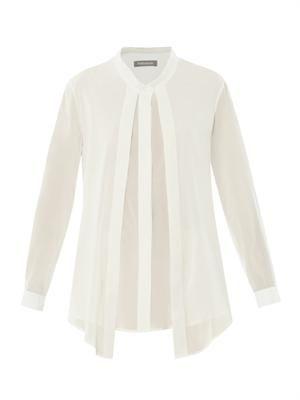 Sinziana silk-georgette blouse
