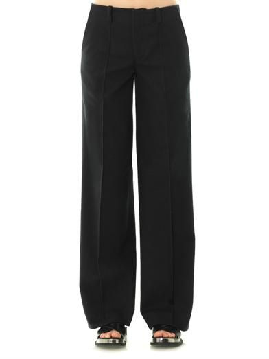 Joe Richards Grace wide-leg cotton-twill trousers