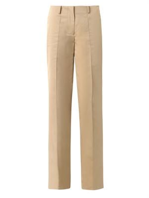Dean wide-leg cotton trousers
