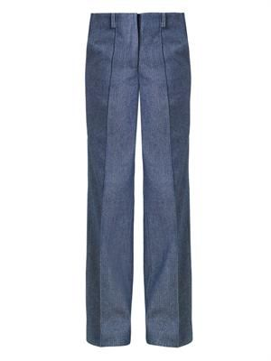 Marlon wide-leg tweed trousers