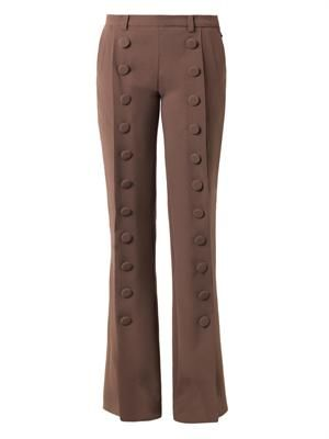 Ninnel boot-cut crepe trousers