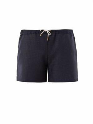 Christie diamond jacquard shorts