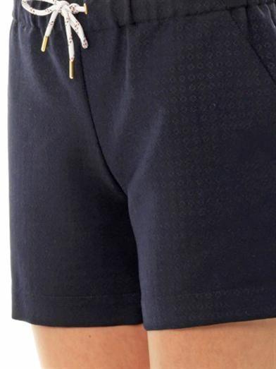 Maison Kitsuné Christie diamond jacquard shorts