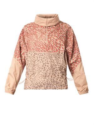 Leopard-print lightweight jacket