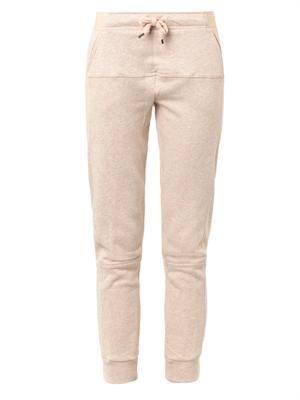 Cotton-jersey gym track pants