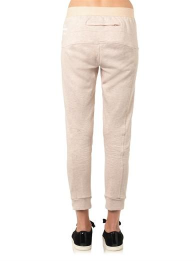 Adidas by Stella Mccartney Cotton-jersey gym track pants