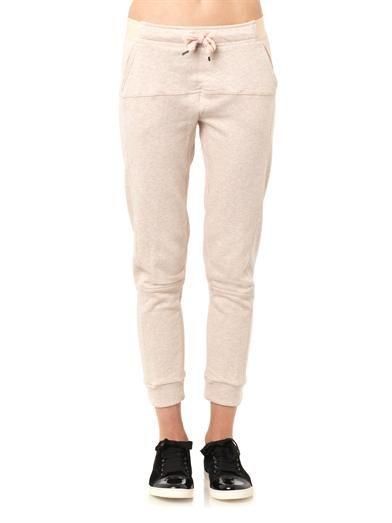 Adidas by Stella Mccartney Cotton-jersey gym track pants