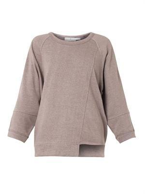 Cotton-jersey oversized sweatshirt