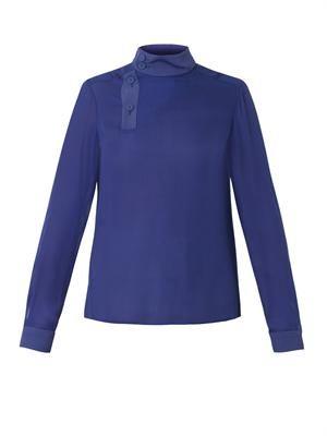 Silk-chiffon blouse