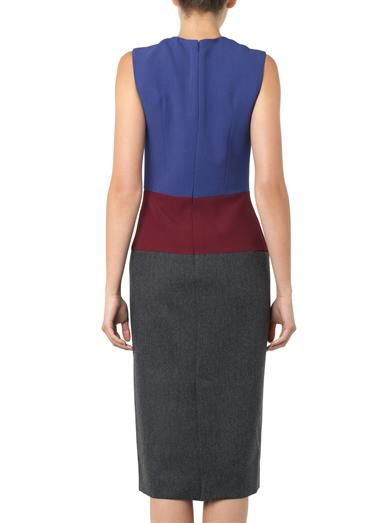 Barbara Casasola Colour-block sheer-panel dress