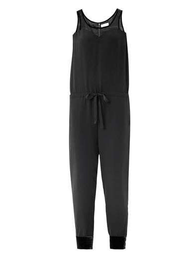 Ar Sweetheart neckline silk jumpsuit