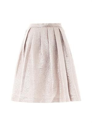 Textured tuck-pleat skirt