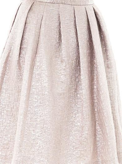 Ar Textured tuck-pleat skirt