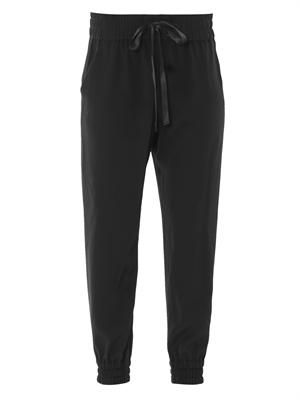 Silk jogging pants