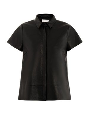 A-line leather top