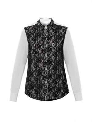 Lace overlay shirt