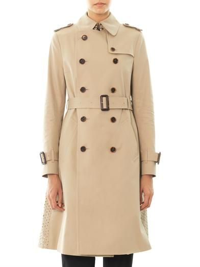 Ar Broaderie anglaise panel trench coat
