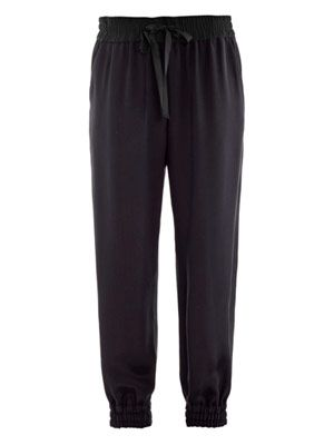 Silk jogging trousers