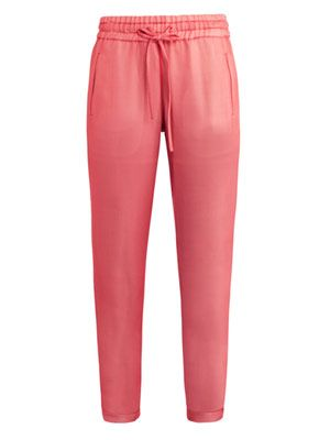 Layered silk trousers