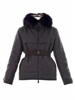 Beudray fur-trim down coat