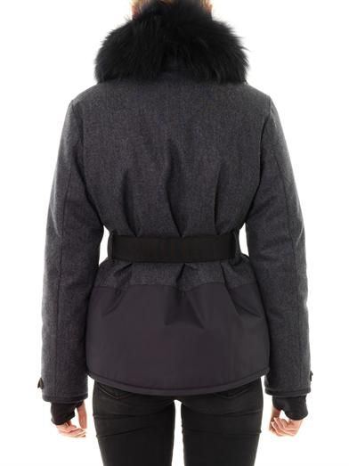 Moncler Grenoble Beudray fur-trim down coat