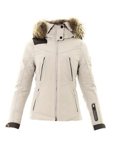 Moncler Grenoble Reidberger fur-trimmed down coat