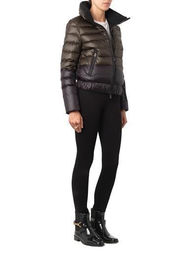 Moncler Grenoble Harbiers bi-colour quilted down jacket