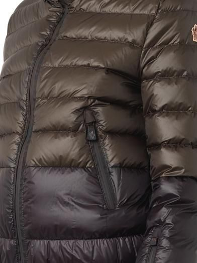Moncler Grenoble Harbiers bi-colour quilted down jacket