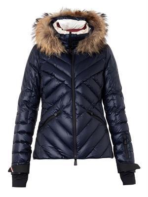 Makalu fur-trimmed quilted down jacket