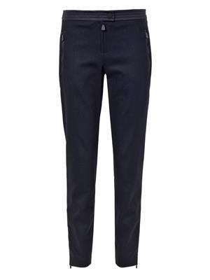 Wool-blend flannel leggings