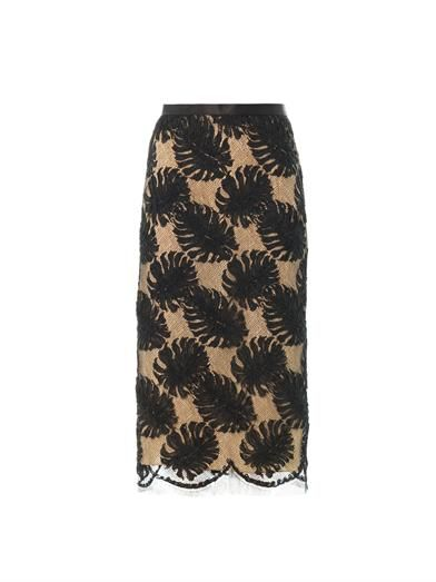 Jason Wu Corded lace pencil skirt
