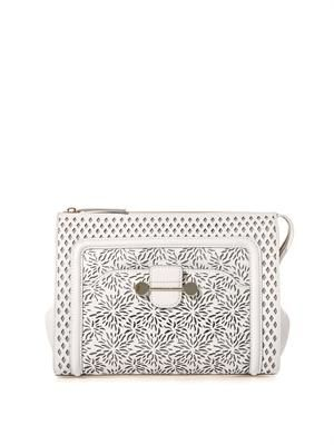 Daphne 2 laser-cut leather clutch