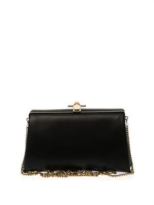Karlie leather clutch