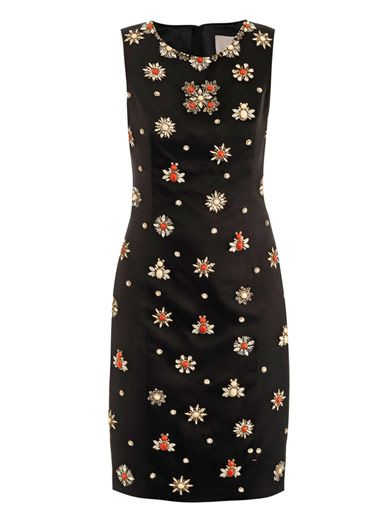 Jason Wu Embellished satin sheath dress