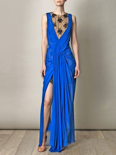 Jason Wu Silk chiffon and lace dress