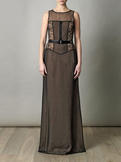 Jason Wu Bi-colour panelled gown