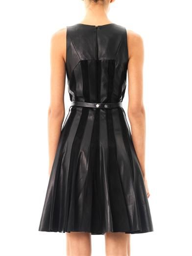 Jason Wu Leather and suede panel dress