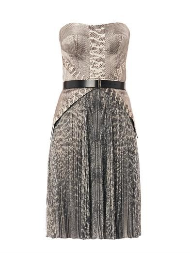 Jason Wu Snake-print strapless dress