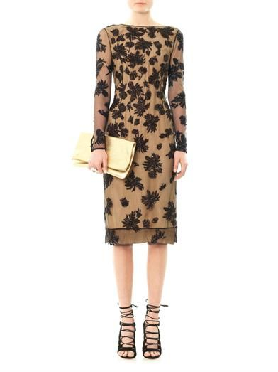 Jason Wu Floral embellished lace dress