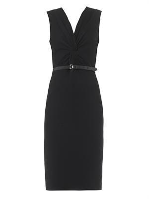 Twist-front ponte dress