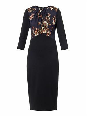Floral-print ponte dress