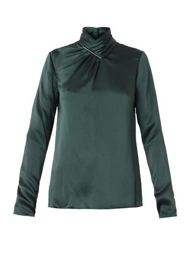 Jason Wu Twist-front silk blouse