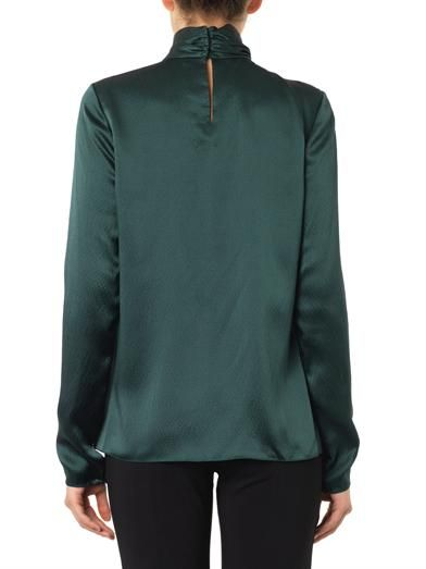 Jason Wu Twist-front silk blouse