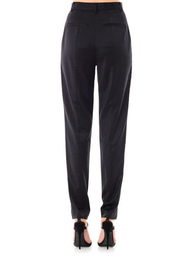 Jason Wu Tuxedo satin-trim trousers