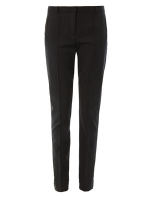 Stovepipe tailored trousers