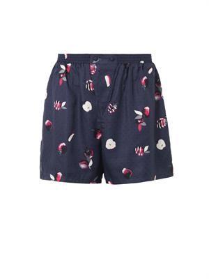 Dania apple-print shorts