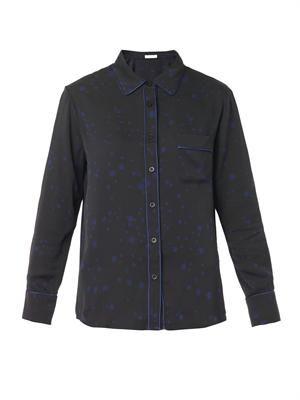 Isabella star-print silk shirt