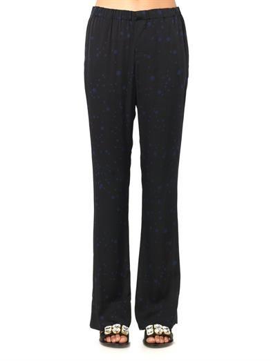 Piamita Nan star-print silk trousers