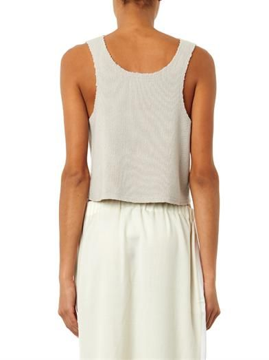 Baja East Ribbed-knit cashmere tank top